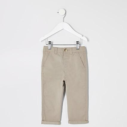 Mini boys stone chino trousers