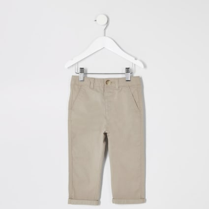 Mini boys stone chino trousers