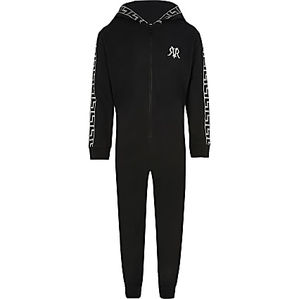 Boys black printed RI onsie