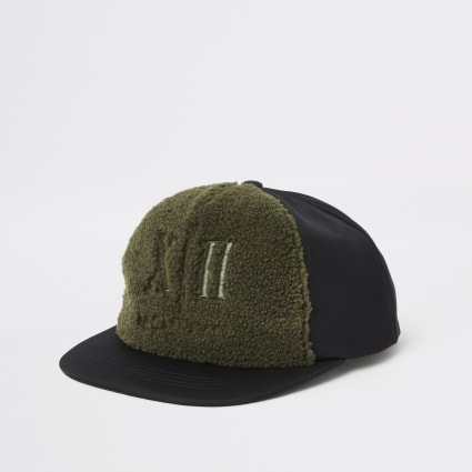 Boys khaki borg cap