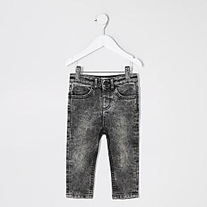 Mini – Sid – Schwarze Jeans in Acid-Waschung für Jungen