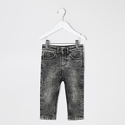Mini boys black acid wash Sid jeans