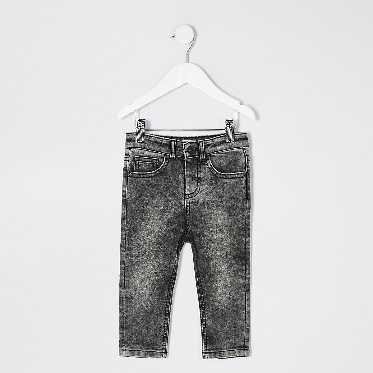 Mini - Zwarte acid washSid jeans voor jongens