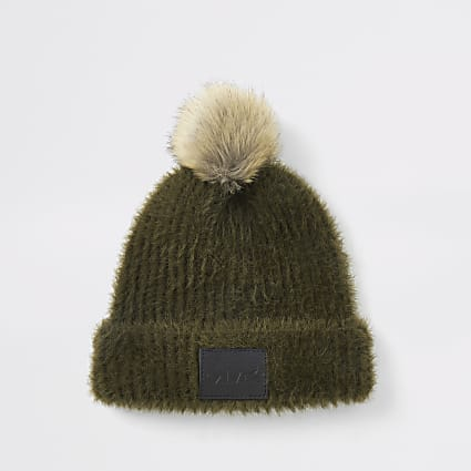 Mini boys khaki cosy beanie
