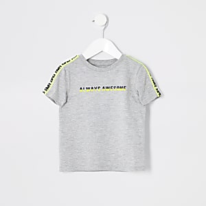 T-shirt «Always awesome» à bande mini garçon