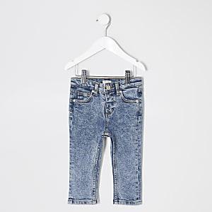 Blaue Sid-Jeans im Acid-Wash-Look für kleine Jungen
