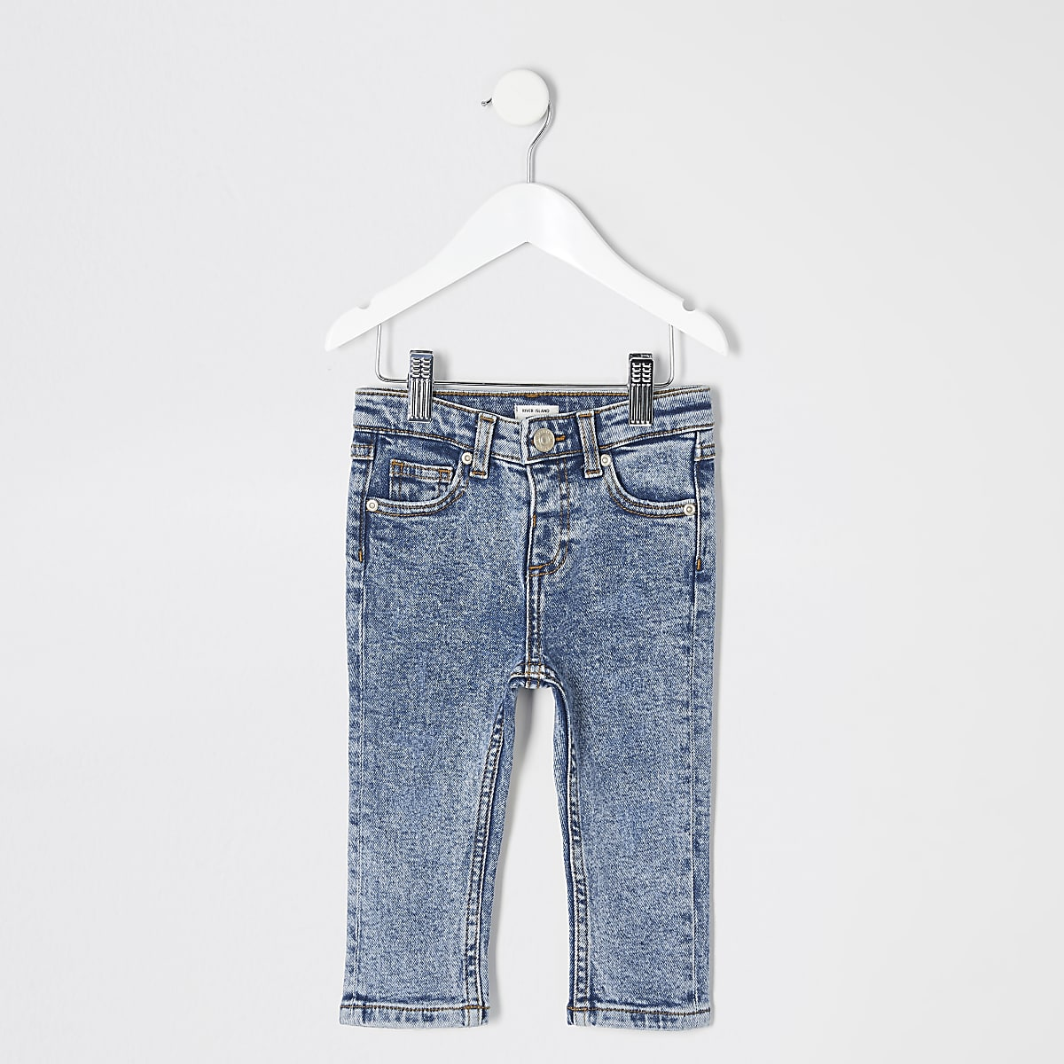 Mini boys blue acid wash Jake jeans