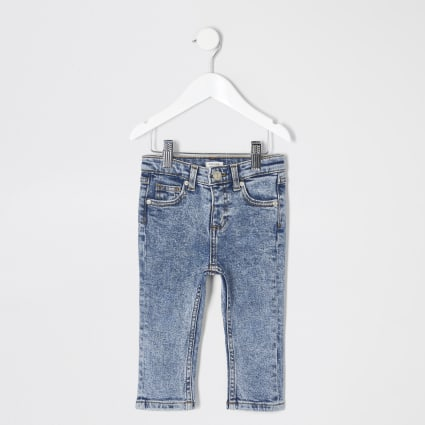 Mini boys blue acid wash Sid jeans