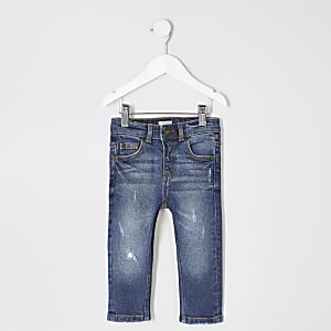 Mini boys blue skinny Sid ripped jeans