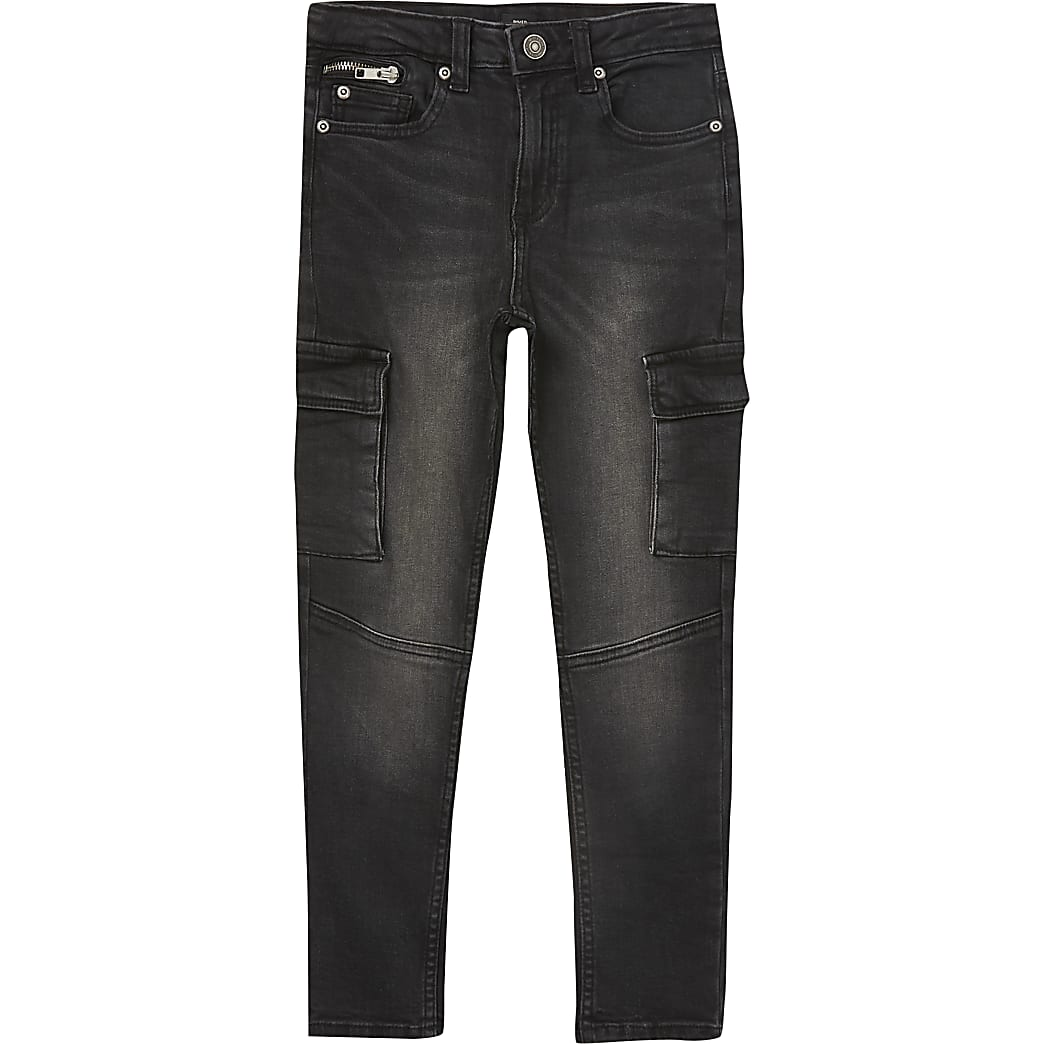 Sid – Schwarze Skinny Utility-Jeans für Jungen
