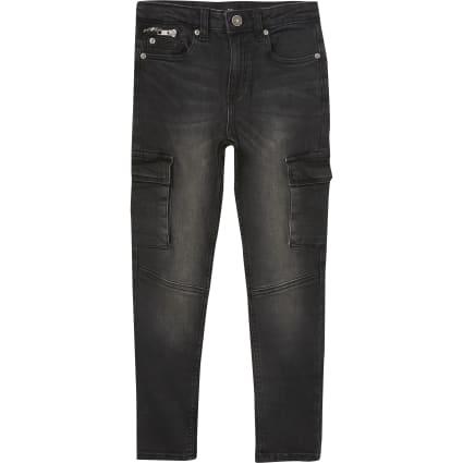 Boys black Sid skinny utility jeans