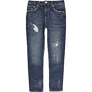 Sid – Blaue Skinny Jeans im Used-Look für Jungen