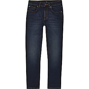 Boys dark blue skinny Sid jeans
