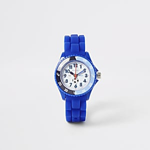 Tikkers – Montre Time Teacher bleue motif sport pour enfant