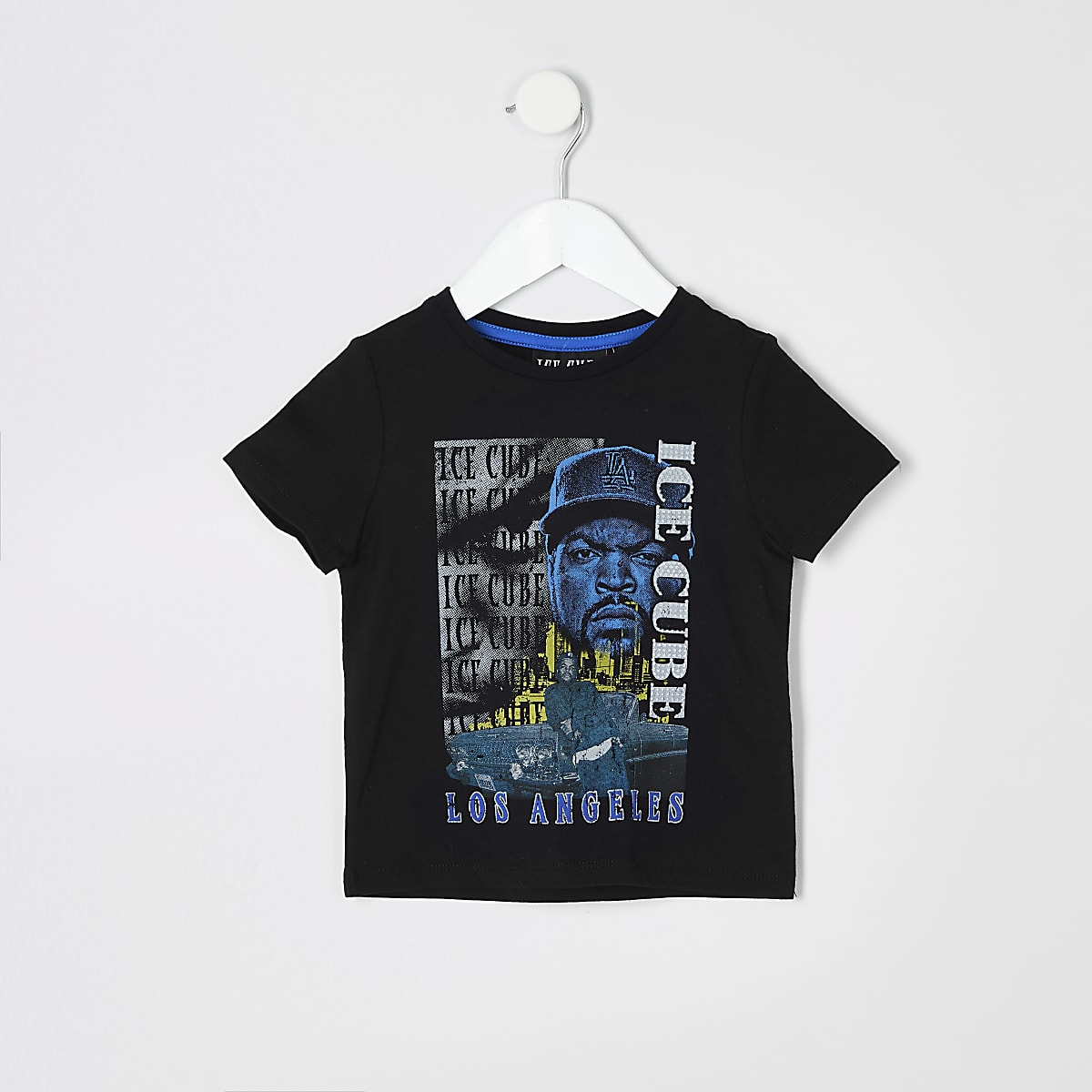 Mini boys Ice Cube print T-shirt
