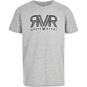 Grijs T-shirt met ninety eight-print voor jongens