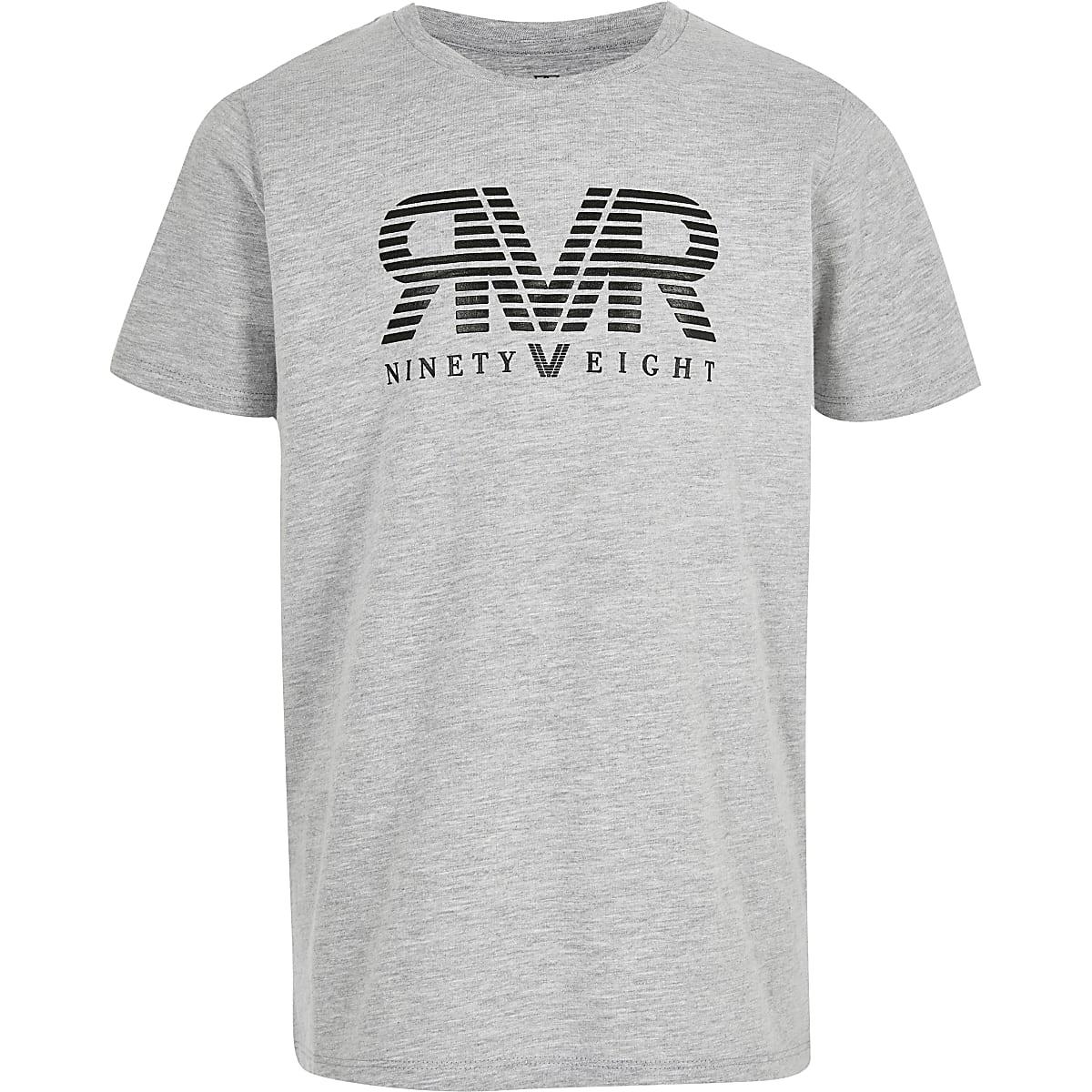 Boys grey ninety eight print T-shirt