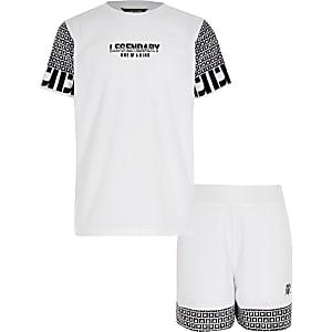 Outfit met T-shirt met RI- en 'legendary'-print voor jongens