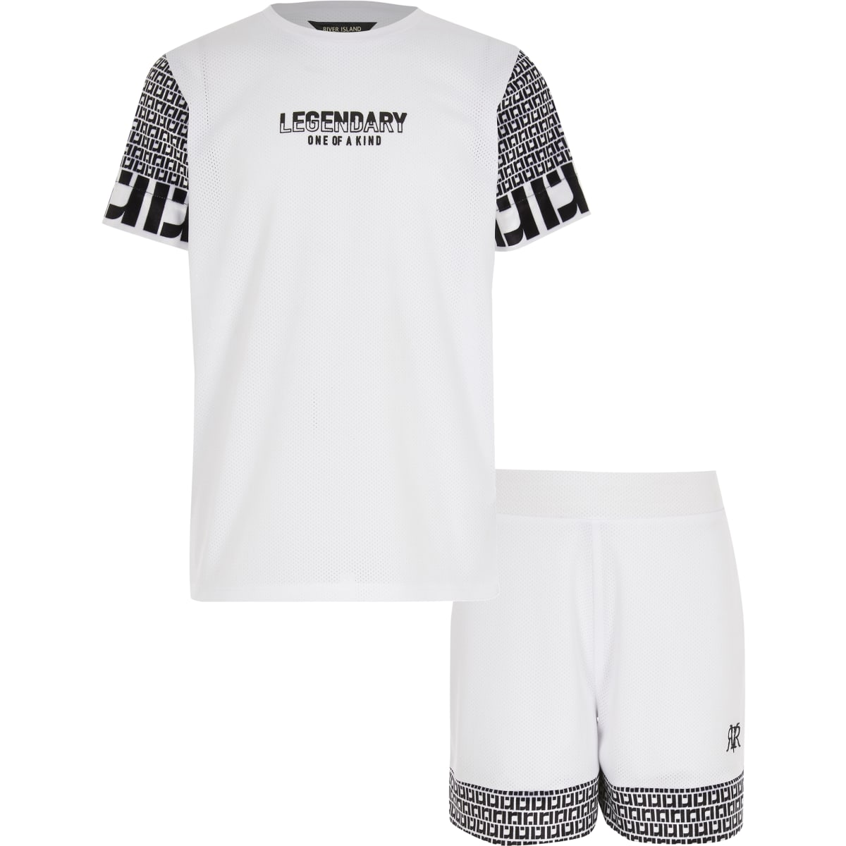 Boys RI 'legendary' print T-shirt outfit
