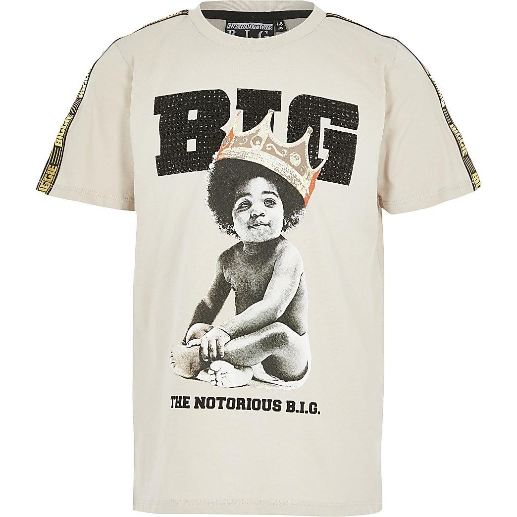 Boys beige baby Biggie Smalls T-shirt