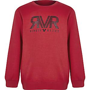 Rood sweatshirt met RI-logo voor jongens
