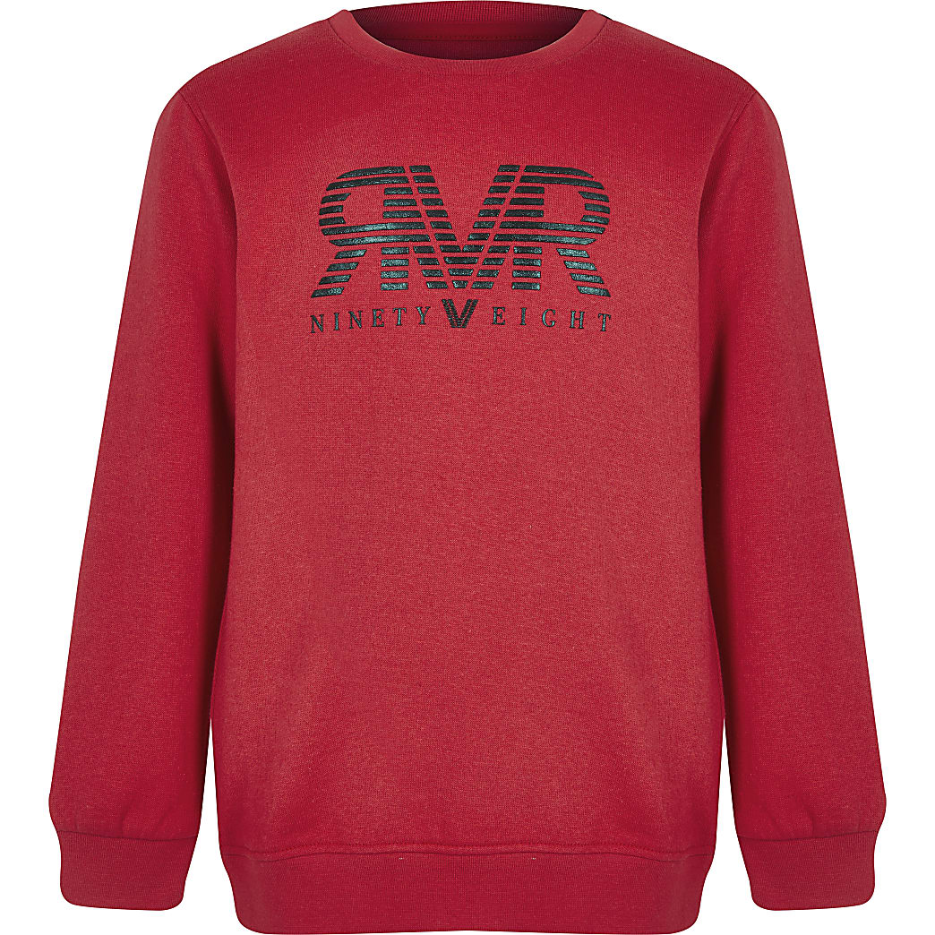 Boys red RI sweatshirt