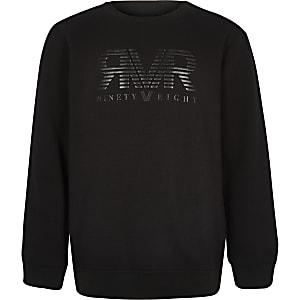 Zwart sweatshirt met RI-logo voor jongens