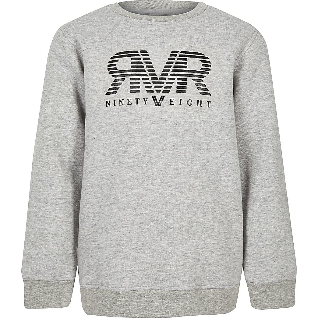 Grijs sweatshirt met RI-logo voor jongens