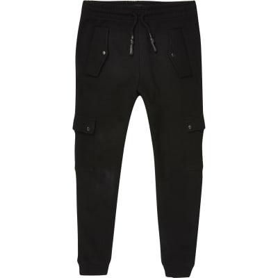 Boys Black Utility Joggers by River Island