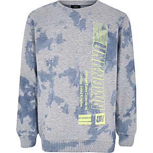 Graues, bedrucktes Sweatshirt