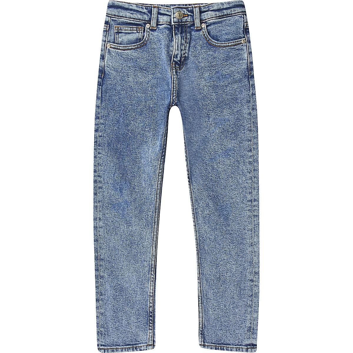 Boys mid blue acid wash Jake jeans