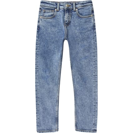 Boys mid blue acid wash Jake jeans