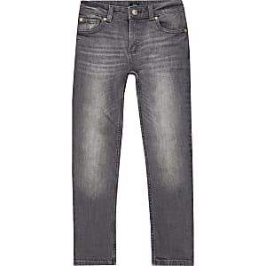 Sid – Graue Skinny Jeans im Washed-Look für Jungen