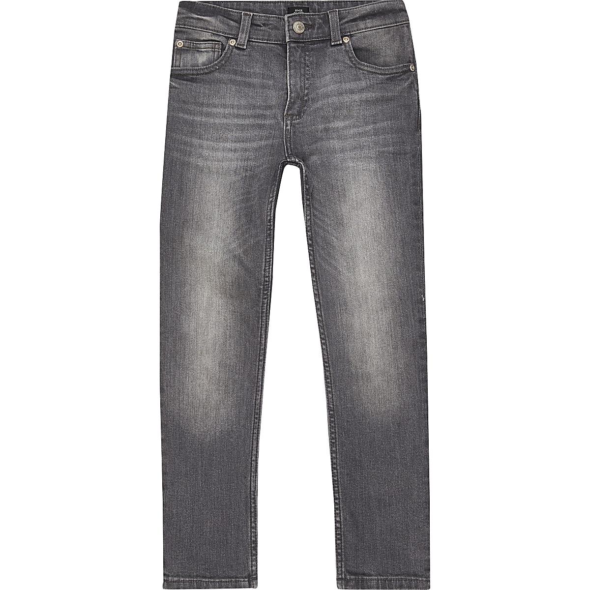 Boys grey wash Sid skinny jeans