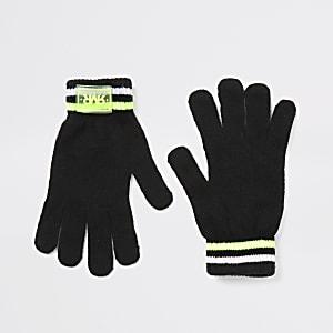 Schwarze RVR-Strickhandschuhe für Jungen