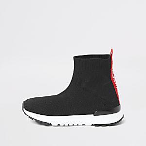 Mini - Zwarte 'MLXXVII' sok sneakers voor jongens