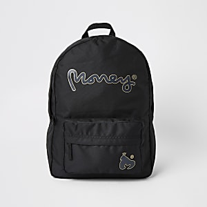Boys black Money backpack