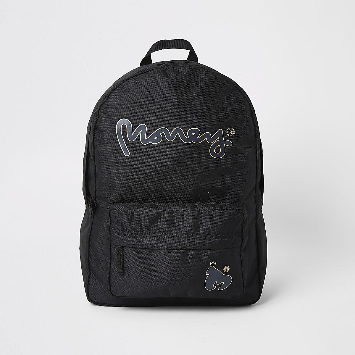 Boys black Money backpack