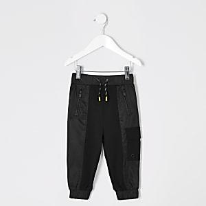 Schwarze Utility-Jogginghose für Jungen