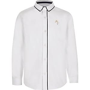 Chemise blanche Maison Riviera passepoiléepour garçon