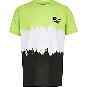 T-shirt vert effet délavé pour garçon