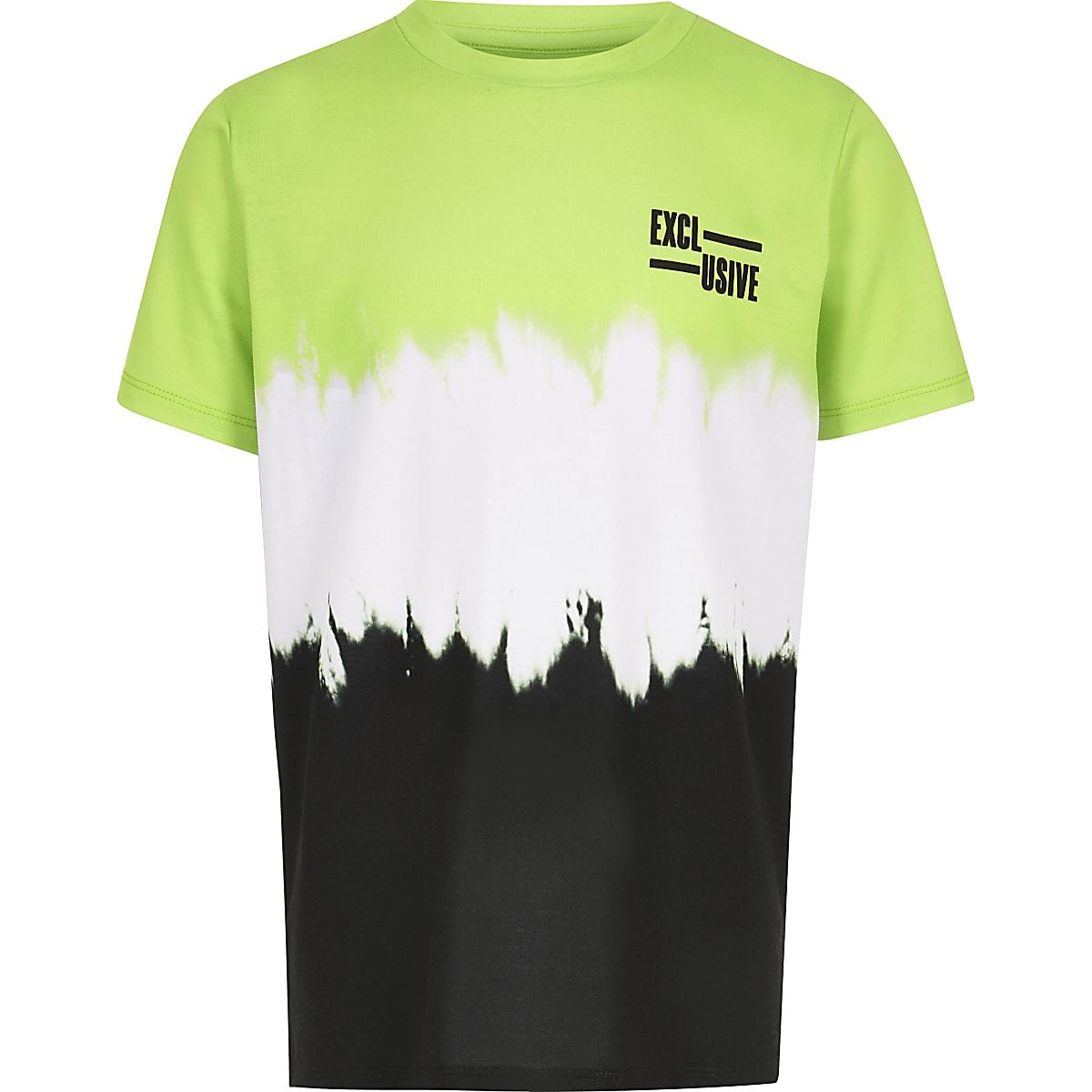 Boys green faded T-shirt
