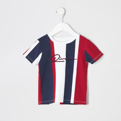 Mini boys navy RI stripe T-shirt