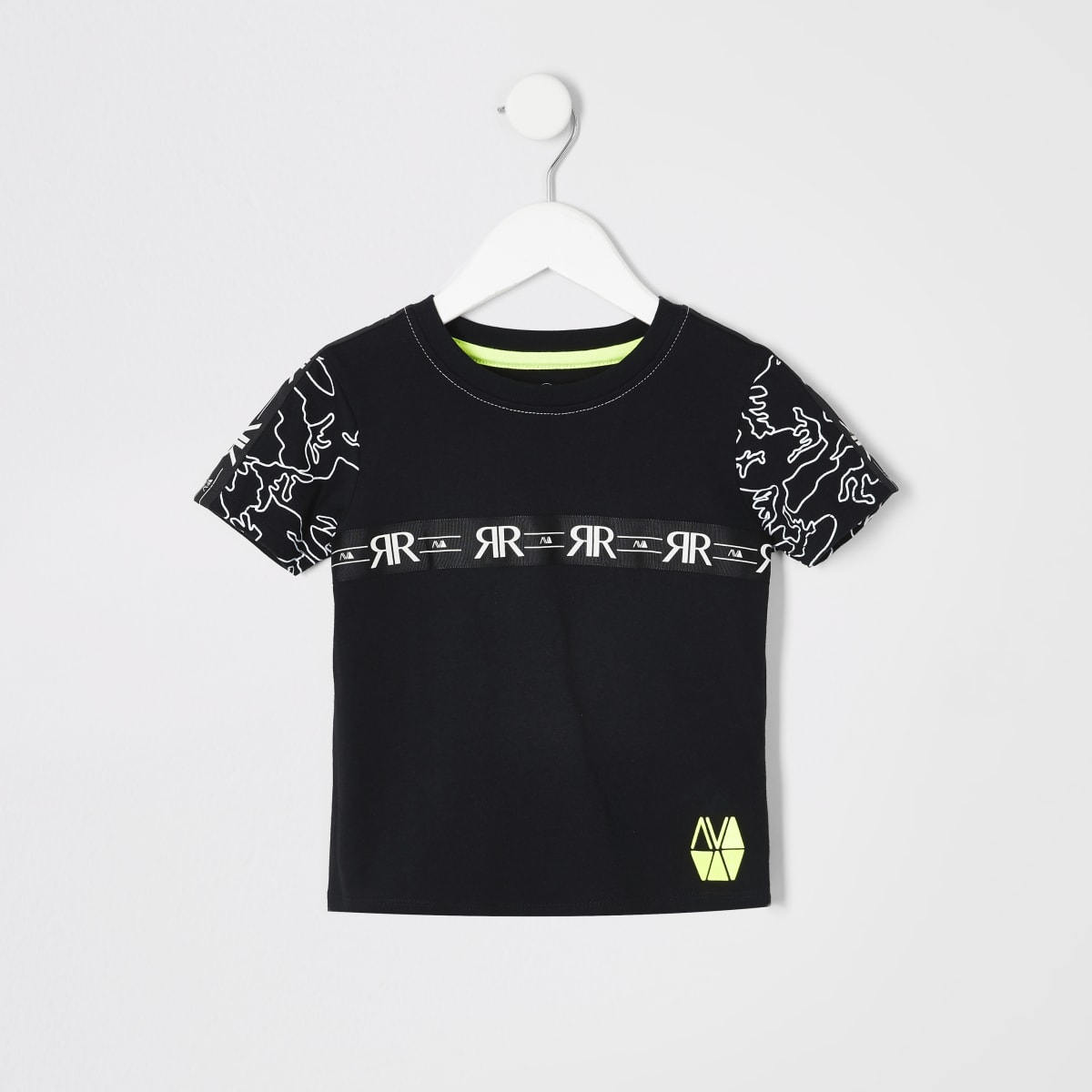 Mini boys black RI Active tape T-shirt