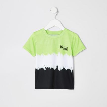 Mini boys green faded T-shirt