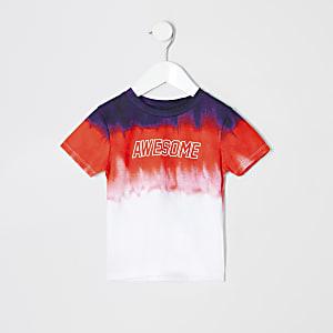 Mini - T-shirt met rode vervaagde print voor jongens
