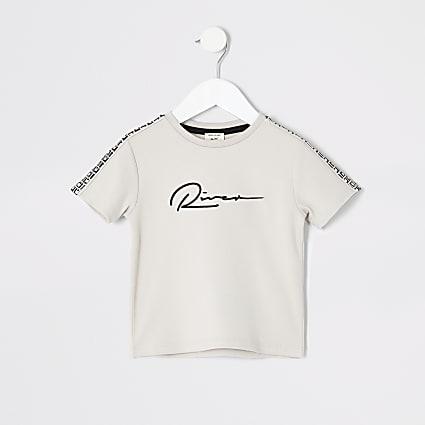 Mini boys stone RI print T-shirt