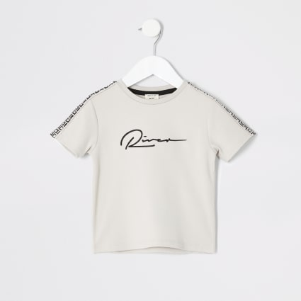 Mini boys stone RI print T-shirt