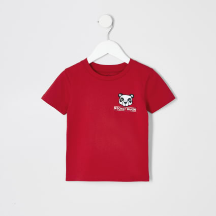 Mini boys red panda T-shirt