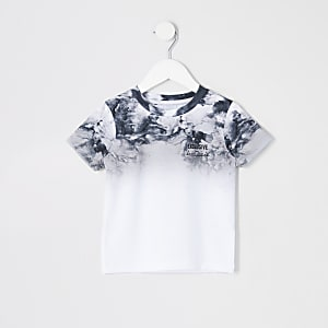 Mini boys grey smoke fade T-shirt